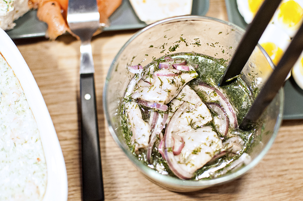 CrumblesAndKale - Pickled herring - Swedish traditional food