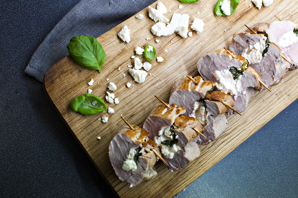 CORSET PORK TENDERLOIN w/ FETA AND BASIL