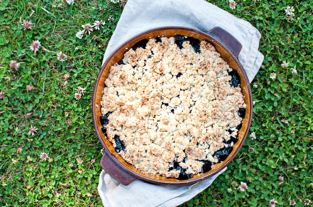 BLUEBERRY AND SEA BUCKTHORN COCONUT CRUMBLE